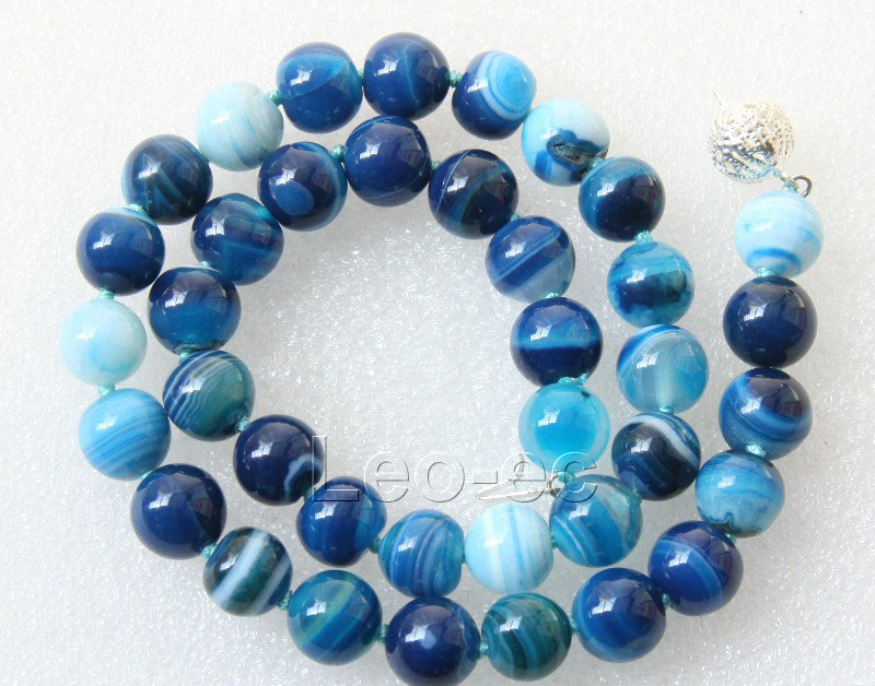 18 quot 10mm gemstone banded agate bead necklace